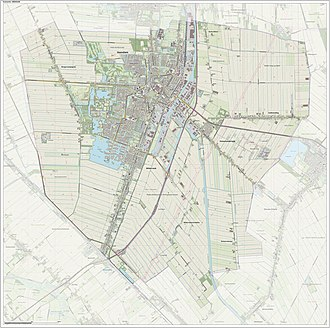 Veendam - 2014 map of the municipality