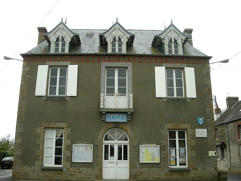 Mairie de Genêts (Manche, Normandie)