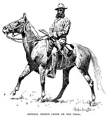 Drawing of Maj. Gen. George Crook on horseback