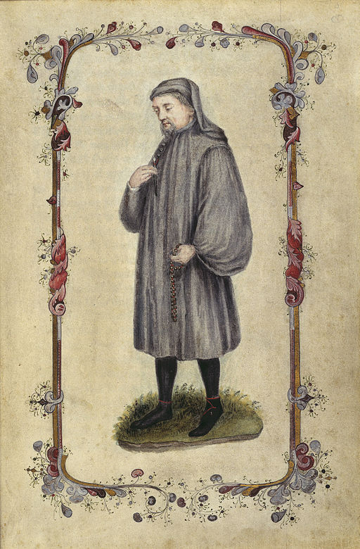 Geoffrey Chaucer - Canterbury Tales (1478), frontispiece - BL