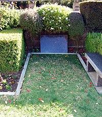 George C. Scott grave at Westwood Village Memorial Park Cemetery in Brentwood, California.JPG