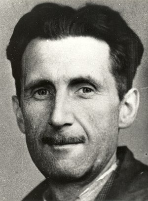 George Orwell - Orwell's press card portrait, 1943