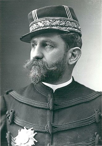 Kepi - General Boulanger wearing a kepi c.1880