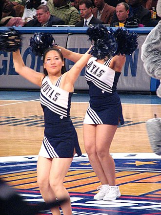 There Goes Old Georgetown - Hoya cheerleaders at an NCAA basketball game