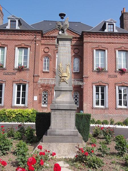 Gercy (Aisne) monument aux morts