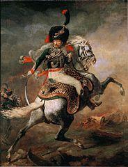 Officier de chasseurs à cheval de la garde impériale chargeant