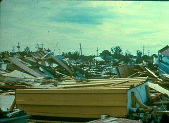 1980 Grand Island tornado outbreak - Damage from the Grand Island tornadoes.