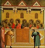 Giotto. Pentecost. 1320-25 National Gallery, London..jpg