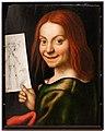 Giovan francesco caroto, ritratto di giovane con disegno, 01.jpg