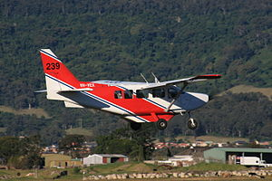 GippsAero GA8 Airvan (VH-VEX) just after taking off from Illawarra Regional Airport.jpg
