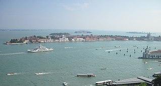 Giudecca Canal canal in Venice, Italy