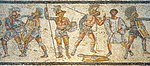 Gladiators from the Zliten mosaic 3.JPG