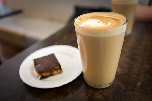 Glass of Coffee Latte with Pastry (1)