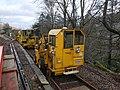 Glenfinnan railway station, Geismar engine of Network rail.jpg
