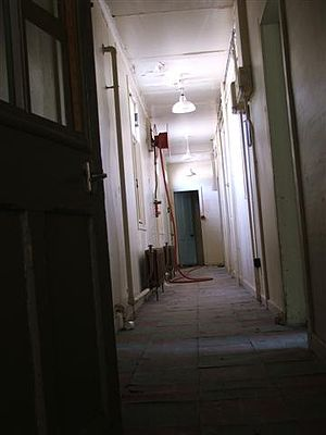 Glen O'Dee Hospital - The original Glen O' Dee Hospital, nurses quarter internal corridor