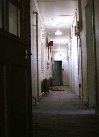 Glen O'Dee Hospital - The original Glen O' Dee Hospital, nurses quarter internal corridor