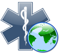 Globe-Star of life.svg