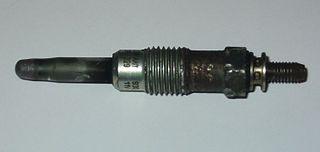 Glowplug Heating element used to aid in starting diesel engines