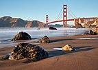 Golden Gate Bridge as seen from Marshall's Beach, October 2017.jpg