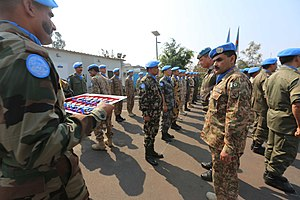 United Nations peacekeeping missions involving Pakistan - Goma, DR Congo- 25 Officers and 4 Warrant officers from various troop-contributing countries were awarded the UN Medal for participating in joint international military and police operations.