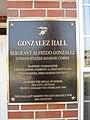 Gonzalez Hall (Marine Corps Base Quantico) plaque 01.jpg