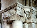 Gournay-en-Bray (76), collégiale St-Hildevert, bas-côté sud, chapiteaux dans l'angle nord-est.jpg
