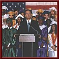 Governor Bayh speaks at a ceremony honoring the first graduating class of the 21st Century Scholars program that he started in his first term.jpg