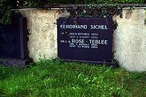 Grabstein Ferdinand Sichel Dr. L. A. Rose-Teblée Jüdischer Friedhof Bothfeld Hannover Burgwedeler Straße 90.jpg