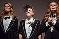 Grace Helbig, Hannah Hart, and Mamrie Hart at No Filter in December 2013.jpg