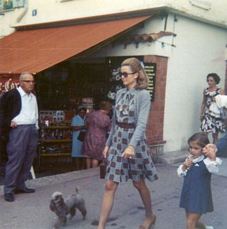 Princess Stéphanie of Monaco - Princess Stéphanie walking with her mother in 1969
