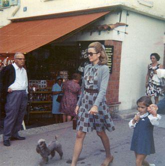 Princess Stéphanie of Monaco - Princess Stéphanie walking with her mother in 1969