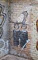 Graffiti de les bessones de Diane Arbus al Carme, València.JPG