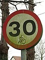 Graffiti on traffic sign - geograph.org.uk - 702001.jpg