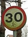 Graffiti on traffic sign - geograph.org.uk - 702001.jpg