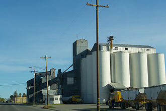 Willows, California - A grain elevator in Willows, California