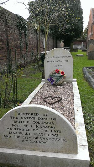 Petersham, London - Grave of George Vancouver