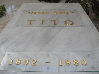 Death and state funeral of Josip Broz Tito - Grave of Marshal Tito.