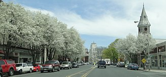 Great Barrington, Massachusetts - View from Main Street in the spring