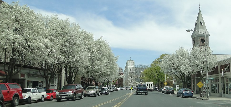 View from Main Street in the spring