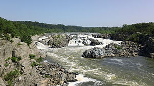 Great Falls (Potomac River) - View of the Great Falls from Virginia