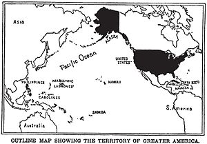 "United States territorial acquisitions - Post-Spanish–American War map of ""Greater America""."
