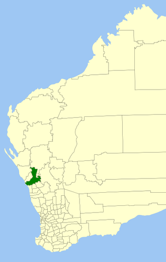 City of Greater Geraldton - Location in Western Australia