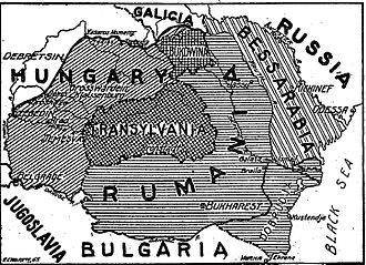 Eastern Front (World War I) - Border changes in favor of Romania as stipulated in the Treaty of Bucharest