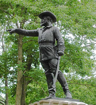 George S. Greene - Monument to Greene on Culp's Hill at Gettysburg National Military Park