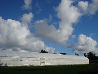 Greenhouse - A plastic air-insulated greenhouse in New Zealand