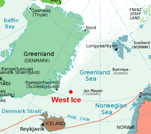 West Ice - Image: Greenland Sea Polar Projection 2