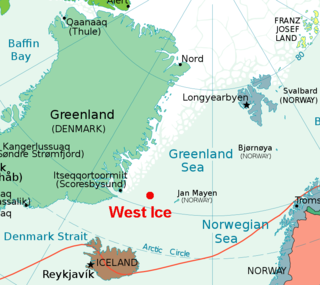Area of the Greenland Sea located north of Iceland