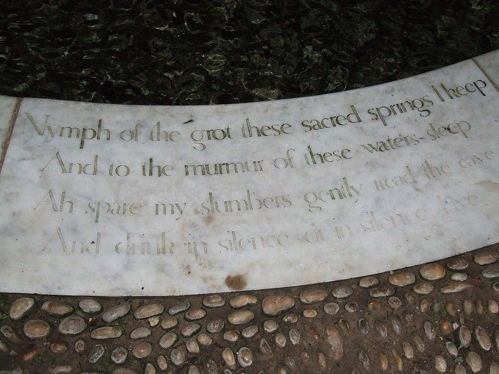 Grotto motto, Stourhead park (9313913818)