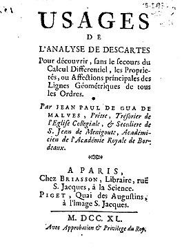 Gua de Malves - Usages de l'analyse de Descartes, 1740 - BEIC 1460763.jpg