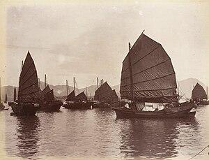 Junk (ship) - Junks in Guangzhou by Lai Afong